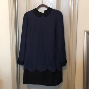 CeCe black and navy dress